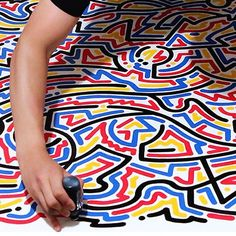 @ynhp Clean K60 lines on canvas. #krink #Padgram