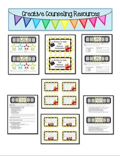 Hollywood themed School Counselor Referral and Passes Pack. Your purchase will include:Label for Student Request Folder, Student Self-Referral K-2nd, Student Self-Referral 3rd-5th, Pass to See the School Counselor, Small Group Pass, Teacher Referral Form, Feedback from Counseling Referral. Brought to you by the Creative Counselor Blog and Creative Counseling Resources $3