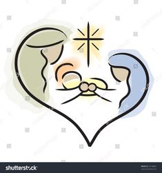 Vector image of Holy Family / Nativity