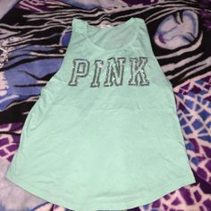 VS PINK oversized tank Super cute VS PINK oversized tank. Like new, never worn but washed and dried once PINK Victoria's Secret Tops Tank Tops