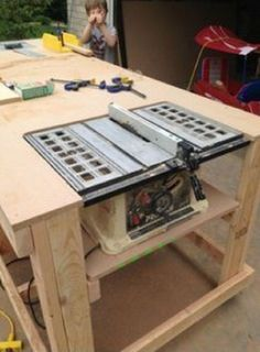Simple Steps to Make Mobile Workbench with Built-in Table & Miter Saws | Woodworking Session