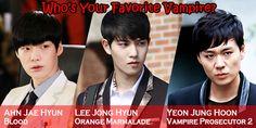 Who's your favorite vampire?  #ahnjaehyun #leejonghyun #yeonjunghoon
