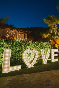 Luminous Letters Decoration for a Romantic Wedding!  Discover More in Our Profile!  #wedding_inspiration, #wedding_destination_Greece, #wedding_decorations, #elegant_wedding_inspiration, #outdoor_wedding_inspiration, #wedding_venue_decoration, #wedding_letters_decoration, #SoundVoiceGR Letters Decoration, Destination Wedding, Wedding Venues, Fairy Lights Wedding, Wedding Letters, Floral Wedding Decorations, Outdoor Wedding Inspiration, Light Letters, Greece Wedding