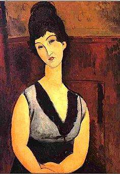 The Beautiful Confectioner - 1916 Beach Towel for Sale by Modigliani Amedeo Amedeo Modigliani, Modigliani Paintings, Italian Painters, Italian Artist, Canvas Art Prints, Oil On Canvas, Anime Comics, Art Moderne, Pablo Picasso