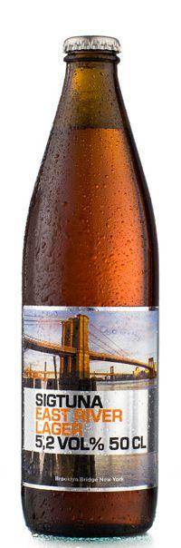 Sigtuna Beer label - East River Lager