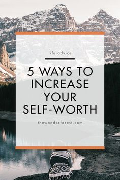 5 Ways to Increase Your Self-Worth, personal growth motivation. Confidence Tips, Confidence Building, Improve Yourself, Finding Yourself, Self Development, Personal Development, Self Improvement Tips, Self Love Quotes, Daily Quotes