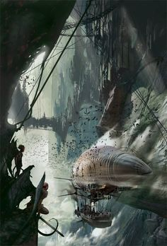 Steampunk character and environments by Stephan Martiniere