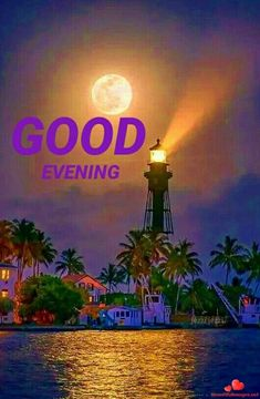 Lighthouse with Moonlight Good Evening Messages, Good Evening Greetings, Pictures Images, Cool Pictures, Beautiful Pictures, Photos, Beautiful World, Beautiful Places, Beautiful Moon