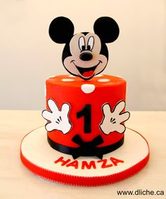 Mickey mouse on a cake!! Mickey Mouse sur un gâteau!