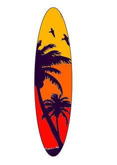 Final surfboard design ideas. I've decided to do palm trees so I have created a different colour design. Daniel Boss©