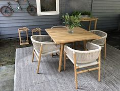Why Teak Outdoor Garden Furniture? Deck Table, Square Dining Tables, Solid Wood Dining Table, Patio Dining, Outdoor Dining Furniture, Outdoor Tables, Outdoor Decor, Outdoor Dining Set, Small Patio