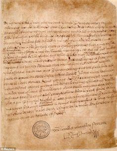 Love letters from Henry VIII to Anne Boleyn Link to translation: http://englishhistory.net/tudor/lovelett.html