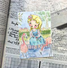 Alice in Wonderland painting art