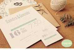Invitación de bodas #origami #weddingbranding #bodascreativas #ideasbodas