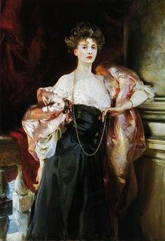 John Singer Sargent (American expatriate artist, 1856-1925) Lady Helen Vincent, Viscountess d'Abernon