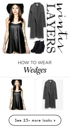 """Winter Layers"" by ghosthearteddanger on Polyvore featuring Motel, Zara, women's clothing, women's fashion, women, female, woman, misses, juniors and slipdress"
