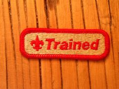 Boy Scout Trained Patch by HeydayRetroMart on Etsy, $3.50