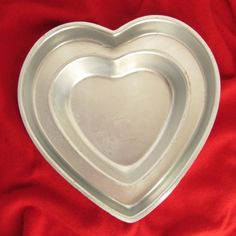 Valentines Day Hearts Wilton Cake Pan Set of 2 502-3053 502-976 Layer Vintage  #Wilton