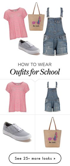 """""""Too Cool for School"""" by sassyladies on Polyvore featuring Zizzi, Vans and The Sak"""