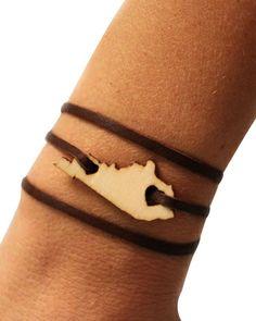 Kentucky Leather Wrap Bracelet - JewelMint