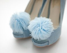 Pale Blue bloom Layered Tulles Corsage shoe clips by finkshop, $18.90    http://www.etsy.com/treasury/MTI3Mjg0MzF8MjI2MDU4OTMyNw/spring-blue-sky