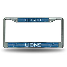NFL Bling Chrome Plate Frame  http://allstarsportsfan.com/product/nfl-bling-chrome-plate-frame/?attribute_pa_teamname=detroit-lions  Impact-resistant chrome-finish metal frame Measures 12-Inch by 6-Inch High quality frame