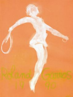 Poster art at the French - Roland-Garros - The 2018 French Open official site Vintage Prints, Vintage Posters, Tennis Posters, Sports Posters, Framed Artwork, Wall Art, Claude, Sports Art, Find Art