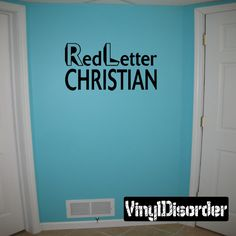 Red letter Christian Wall Decal - Vinyl Decal - Car Decal - DC312