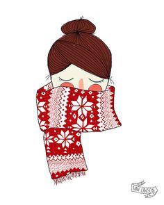 Jolly Holiday   Illustration Print by NanLawson on Etsy, $10.00