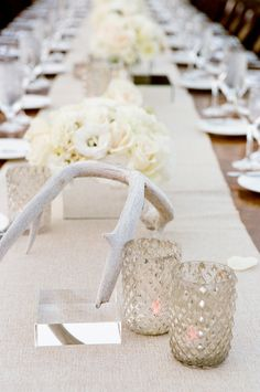 layers of neutrals on these #tablescapes |  Photography: Yvette Roman - yrphoto.com, Design and Planning by http://www.sterlingsocial.com, Florals by http://brownpaperdesign.com  Read More: http://stylemepretty.com/2013/10/08/ojai-wedding-from-yvette-roman-photography-and-sterling-social/