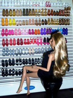Its a hard life, being Barbie. :) Next to Carrie Bradshaw from Sex and the city and her walk in closet this is so awesome!