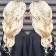 Beautiful California Blonde hair color and long blonde wavy hair by Monika Quatrano hotonbeauty.com