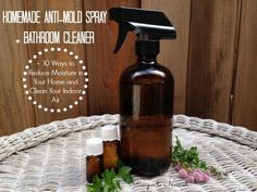 Homemade Anti-Mold Spray & Bathroom Cleaner + 10 Ways to Reduce Moisture in Your Home and Clean Your Indoor Air | Recipes to Nourish
