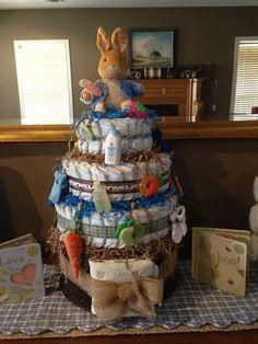 Peter Rabbit Diaper Cake