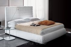 Bonaldo Bloom Ego Upholstered Bed , Double beds, Go Modern Furniture Home Bedroom, Bedroom Furniture, Modern Furniture, Upholstered Platform Bed, Upholstered Beds, Super King Size Bed, Bed Base, Minimalist Bedroom, Mattress