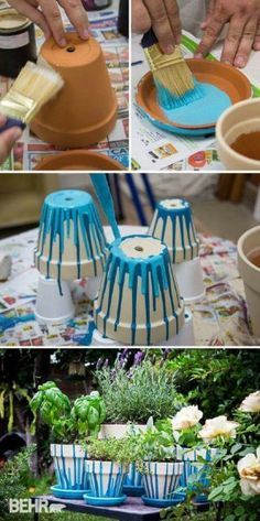 10 Ways to Make Over Your Terra Cotta Pots