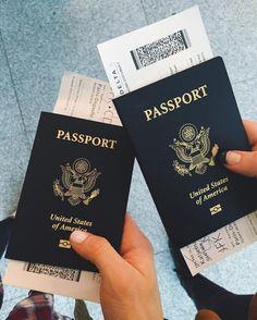 airplane, girls, passport, travel, trip, tumblr