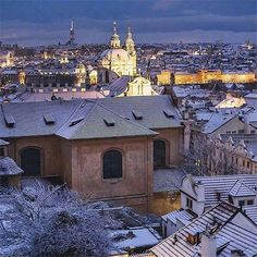 There is usually some snow in Prague before Christmas and then again in January, February, and even March, but every Prague winter is different. World Travel Guide, Travel Guides, Prague Winter, Visit Prague, Prague Czech Republic, Paris Skyline, Travel Destinations, Dancing, February