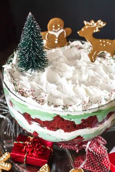 Delicious holiday dessert, Christmas trifle