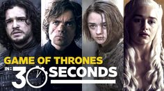 Entertainment Weekly has released a new video where cast members from Game of Thrones attempt to sum up the first four seasons of HBO's popular television series in a mere 30 seconds. The Game of T...