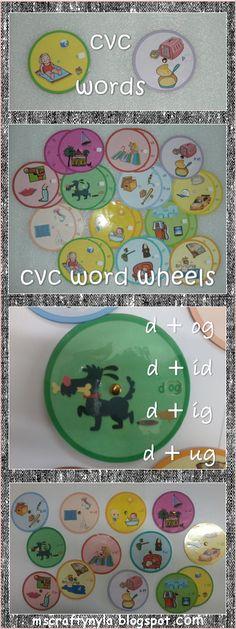 Using Word Wheels for Phonics! #cvc #phonics #literacy Download a free sample! $