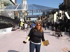 The LIVE production team is doing an Oscar® walk-through! Very exciting!