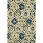 Taylor Lifestyle Collection Navy/Multi 3 ft. 6 in. x 5 ft. 6 in. Area Rug, Blue/Multi
