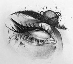 Dark Art Drawings, Art Drawings Sketches Simple, Pencil Art Drawings, Cool Drawings, Sharpie Drawings, Indie Drawings, Eye Drawings, Tattoo Design Drawings, Tattoo Sketches