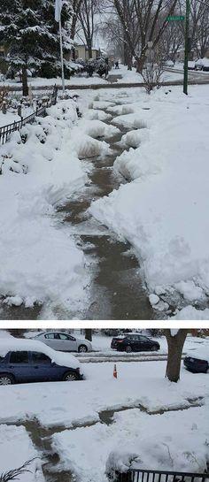 Hope they enjoy my snow maze