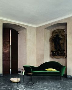 That green sofa....so good.