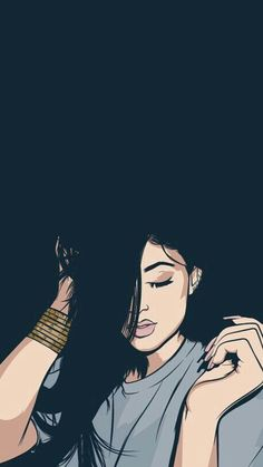 Shared by Tao. Find images and videos about art, drawing and kylie jenner on We Heart It - the app to get lost in what you love. Girl Wallpaper, Cartoon Wallpaper, Black Wallpaper, Girly M, Dope Wallpapers, Girly Drawings, Illustration Mode, Black Girl Art, Pop Art Girl