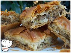 Greek Appetizers, Greek Desserts, Greek Recipes, Cookbook Recipes, Dessert Recipes, Cooking Recipes, Easy Recipes, Food Network Recipes, Food Processor Recipes