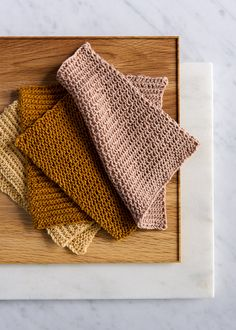 Close Knit Washcloths, slipstitch pattern from Purl Soho