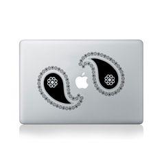 Double Paisley Leaf Vinyl Sticker for Macbook (13/15), Laptop or Guitar #design #macbook #macbookstickers #pimpmymacbook #decals #stickers #vinyl #DIY #laptop #paisley #floral #patterns
